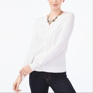 J. Crew Button Down Cardigan Sweater White Small
